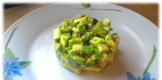 Tartare di avocado e zucchine