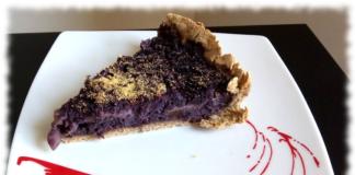 torta cavolfiore viola