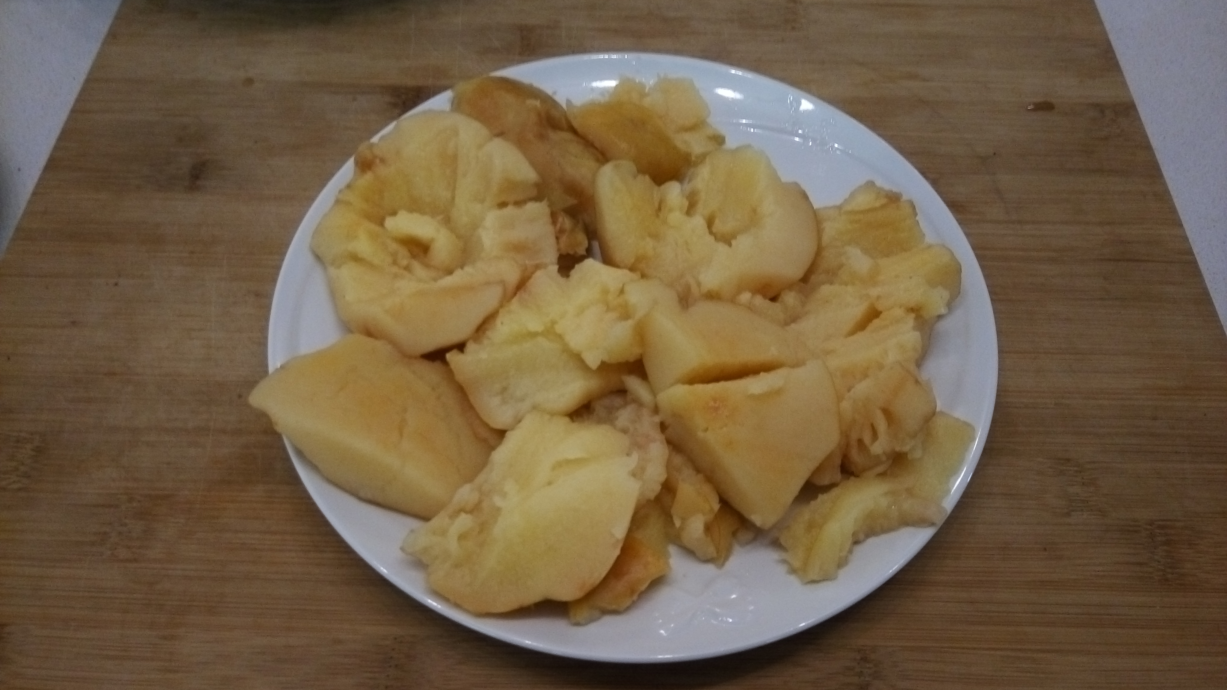 Terminate di pulire le mele