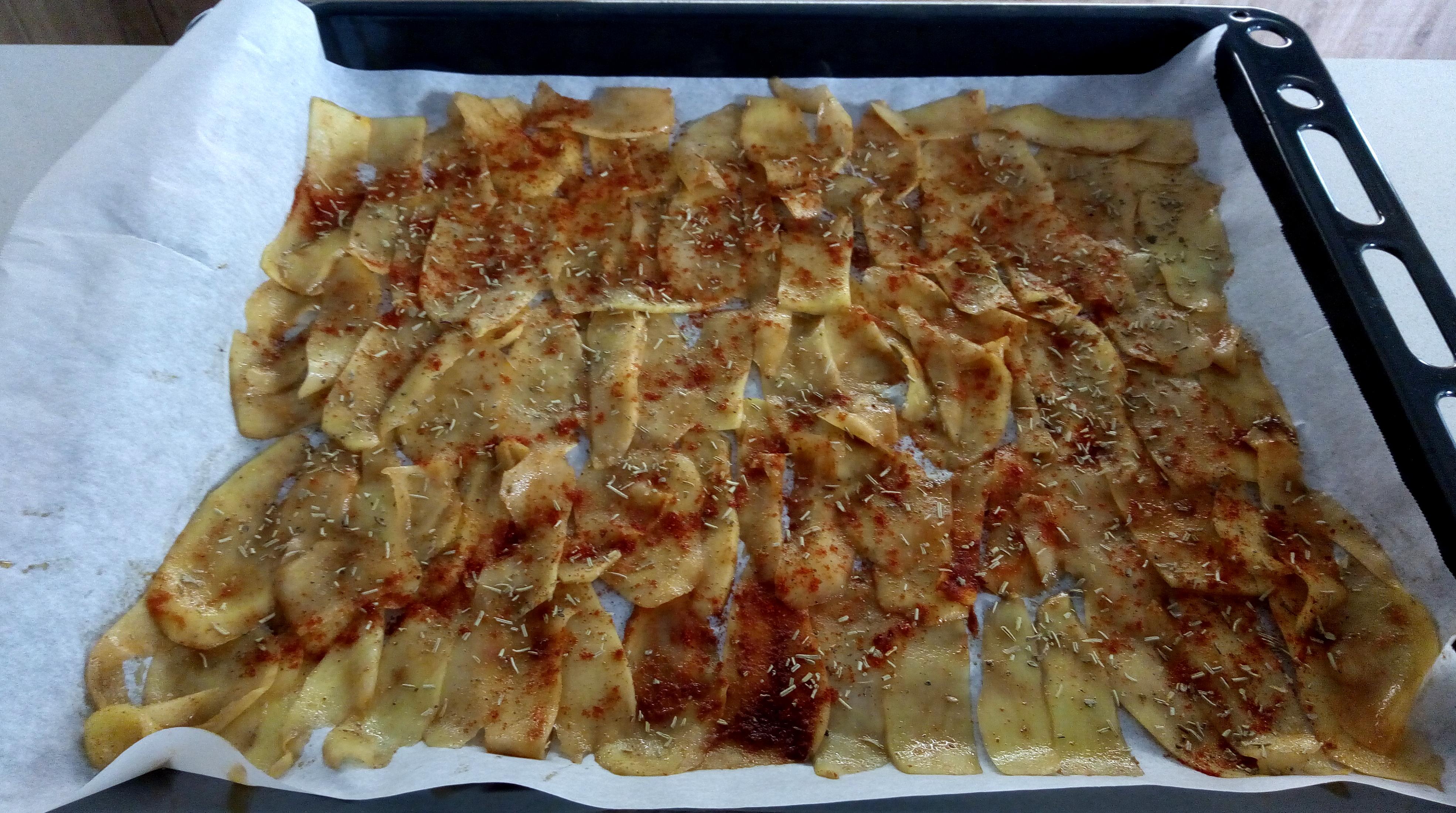 chips di patate cotte al forno
